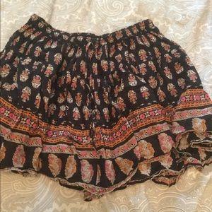 Free People One Paisley Mini Skirt
